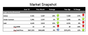 Denver Mid-Year Real Estate Snap Shot